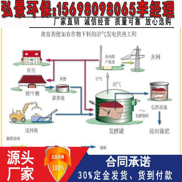 沼气工程-畜禽粪污处理设备建设施工图纸及厂家