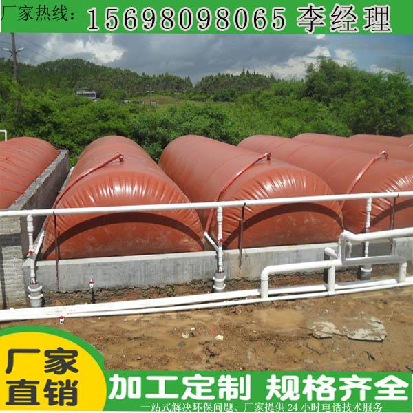 软体沼气池200立方浮罩安装案例及造价图纸