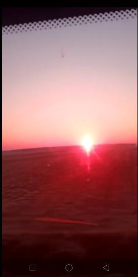 美麗的日出霞光