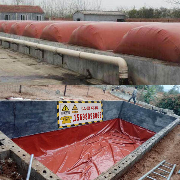 畜禽粪便沼气池尺寸定制 塑料红膜使用年限