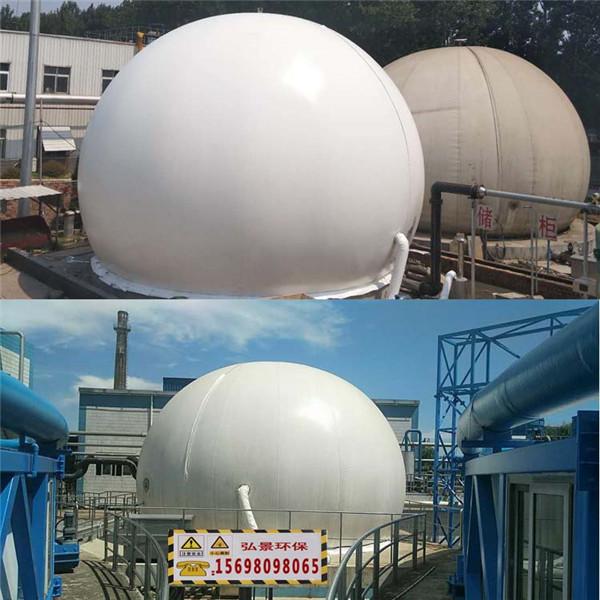 双膜气柜多余沼气储存设备、气体收集工程一套价格