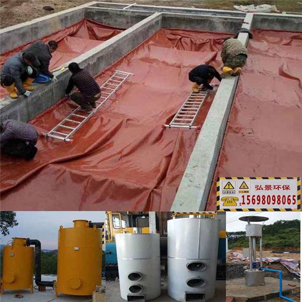 紅泥沼氣袋豬場化糞池發酵原理及建設方法、步驟